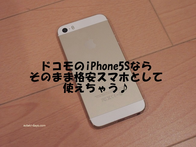 iphone5sは格安スマホで使える