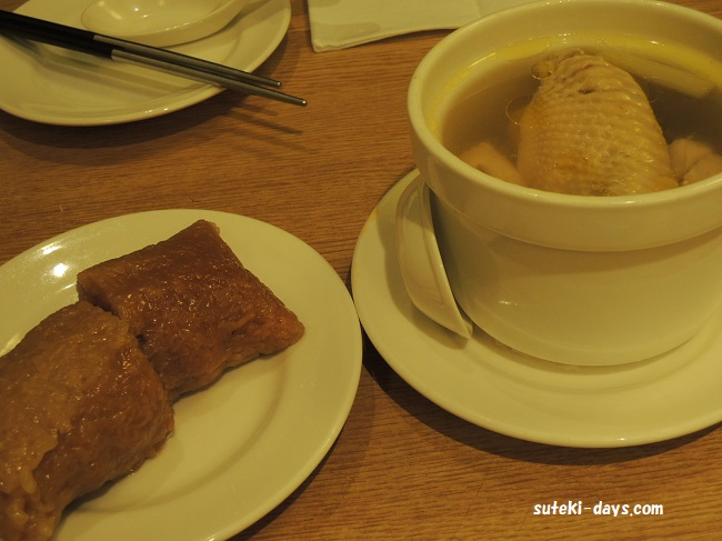 鼎泰豊ディンタイホン粽&鶏スープ